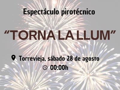 Torrevieja acoge el sábado el disparo de un gran castillo de fuegos artificiales