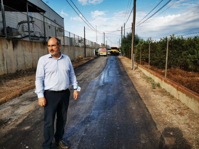 Benejúzar comienza con las obras del camino viejo de Almoradí