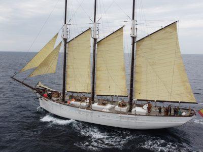 El velero Pascual Flores regresa a España tras su gira por Europa