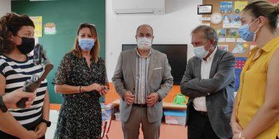 El secretario autonómico de Educación visita las obras del CEIP Antonio Sequeros de Benejúzar