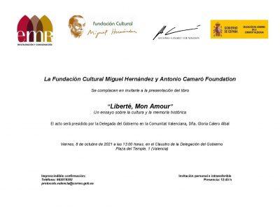 El libro 'Liberté. Mon Amour' del pintor Antonio Camaró se presenta en Valencia